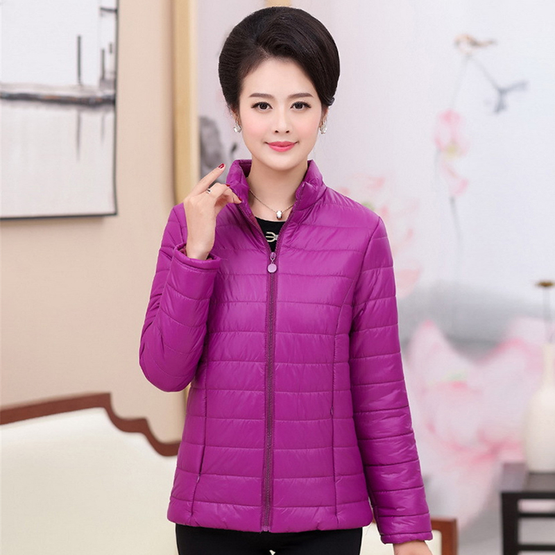 Plus size 4XL 5XL ultra light down Cotton jacket women 2018 Fashion streetwear baseball jacket winter casual Windproof outerwear 2