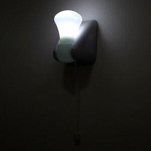 Image 5 - Fio portátil lâmpada led armário luz da noite bateria operado auto adesivo montagem na parede luz para o quarto corredor wc