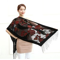 2107 Spring Camellia Print Women Scarf Viscose Evening Shawl Winter Hot Sale For Lady Female Gift Free Shipping
