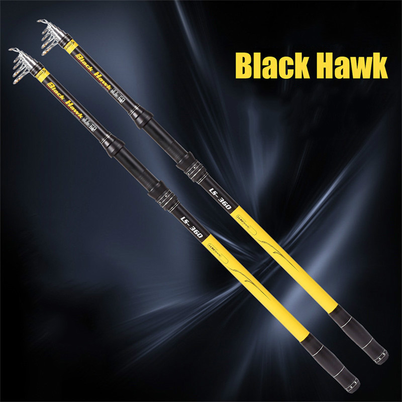 High Duty Telescopic Fishing Rod 46T Carbon Fishing Pole Aluminium Reel Seat Sea Fishing Rod 2.1M-3.6M Top Fishing Gear