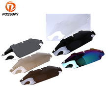 POSSBAY 6 Bicicleta Motorcycle Fairing Windshield Windscreen Cafe Racer Scooter For Harley Electra Glide 1996-2013