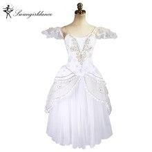 white swan lake romantic ballet tutu dress girls Giselle ballerina dress women gold ballet costume adult BT8902