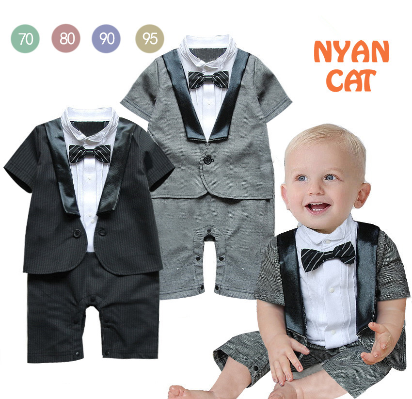 Free Shipping 4sets/lot Baby Boy's Formal long sleeve Romper