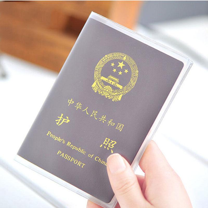 1 PC  PVC Passport Cover Transparent Passport Cover Case  Clear Waterproof Travel Document Bag Passport Holder