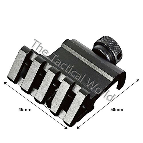 Tactical Hunting 45 Degree Angle Offset Fit 20mm Weaver Picatinny Rail Mount Quick Release Mount for
