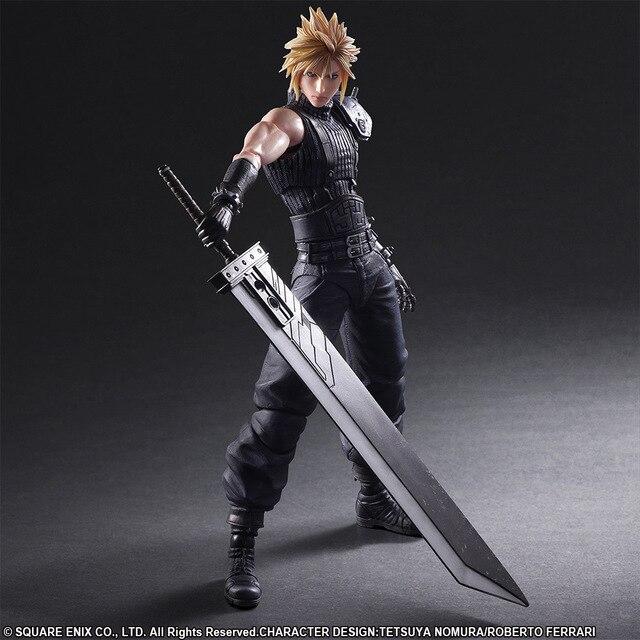 ARTS JOGAR 27 cm Final Fantasy VII Cloud Strife Edição 2 Action Figure Modelo Brinquedos