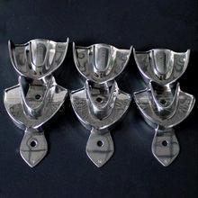 Plateaux dentaires, Instruments de prothèse dentaire, plateau d'impression en acier inoxydable, sans trou, 3 types, 6 pièces