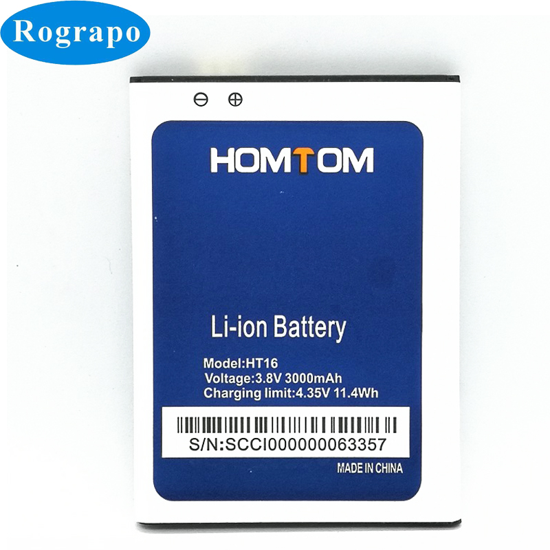 3000mAh HT16 Replacement Battery For Homtom HT 16 Pro Bateria Baterij Cell Mobile Phone Batteries(China)