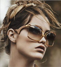 5f1fe71a1 SOLO TU Tendência de Grandes Dimensões Único Bent Pernas Óculos de Sol Da  Marca do Desenhador Das Mulheres do Sexo Feminino Pers.
