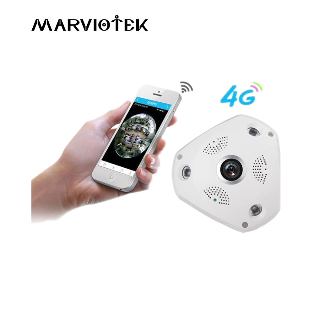 3G/4G LTE wireless IP Camera sim card 3MP alarm vr camera surveillance 360 degree ip ptz camera vehicle 960P with SD Card Slot