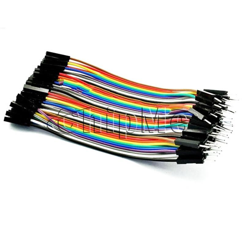 10 x 40PCS Dupont 10CM Male To Female Jumper Wire Ribbon Cable for ...