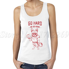Women Camisole Tank-Tops Printing Sportvest Cartoon Do-You-Even-Lift Squat Frenchie Go-Hard