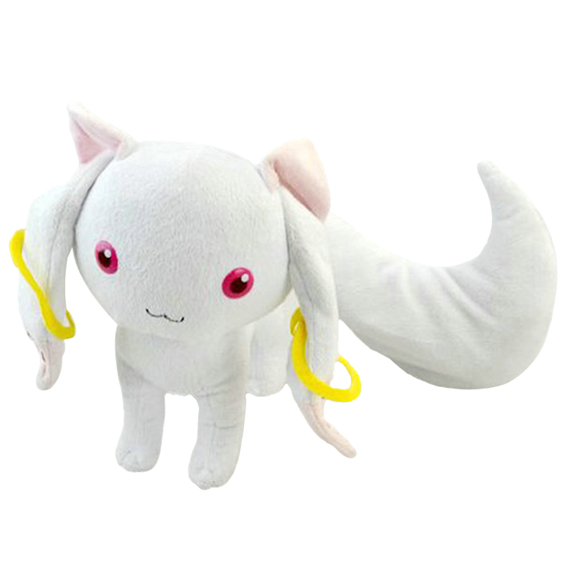 Puella Magi Madoka Magica Magic Kyubey Plush Toy 8 20cm Qbay Cat Soft Stuffed Toys Doll for Children Girls Birthday Christmas puella magi madoka magica tomoe mami gold short cosplay wig free two ponytails