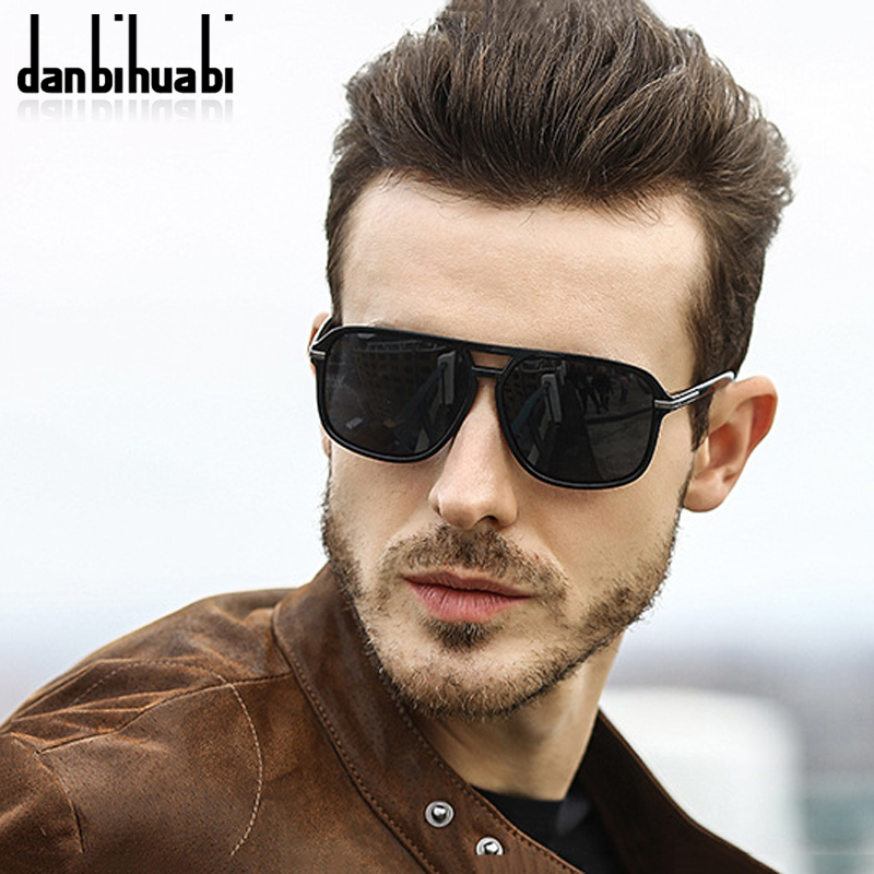 danbihuabi 2018 Brand Men Sunglasses Polarized Mirrored HD Lens Cool Vintage Women Sun Glasses For Male Female Gafas Hombre