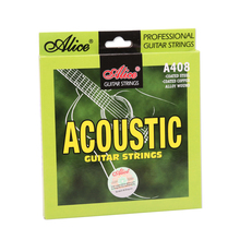 купить Wholesale 12 sets/lot Alice A408-L Acoustic Guitar Strings Light 6-string Set дешево