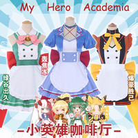 Anime!My Hero Academia Midoriya Izuku Todoroki Shoto Bakugou Katsuki Kaminari Denki Maid Dress Uniform Cosplay Costume Free Ship