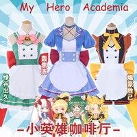 Anime!My Hero Academia Midoriya Izuku Todoroki Shoto Bakugou Katsuki Kaminari Denki Maid Dress Uniform Cosplay Costume Free Ship
