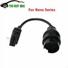 A + + + qualidade para benz 16 pinos para 38 pinos obd 2 adaptador cabo para mercedes 38pin conector mb 38 pinos obd2 obdii diagnóstico cabo