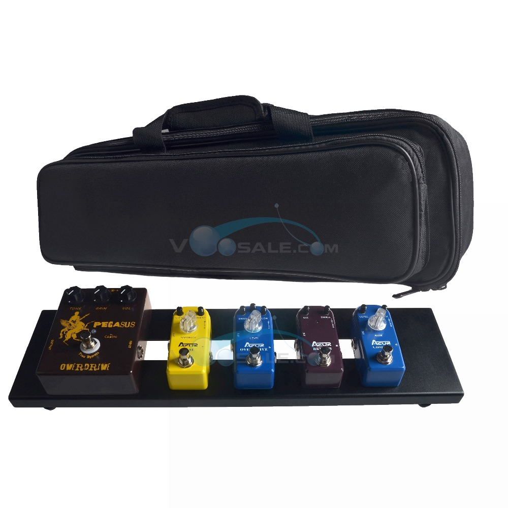 AZOR AB-101 Guitar Effect Pedal Board Aluminum Alloy With Durable Bag Guitar Portable Pedalboard Effect Pedal Guitar Accessories