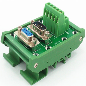 Image 2 - D SUB DB9 DIN Rail Mount Interface Module  Male/Female Header Breakout Board, Terminal Block, Connector.