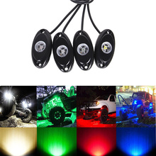 ECAHAYAKU 8 pcs LED Rock Light Kits For Interior Exterior Under Car Off Road Truck ATV SUV Jeep 4x4 Boat 4wd Motorcycle  4WD