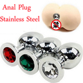 Brand New Stainless Steel Anal Beads With CZ Diamonds, Butt Plug Sex Toys, Sex Products
