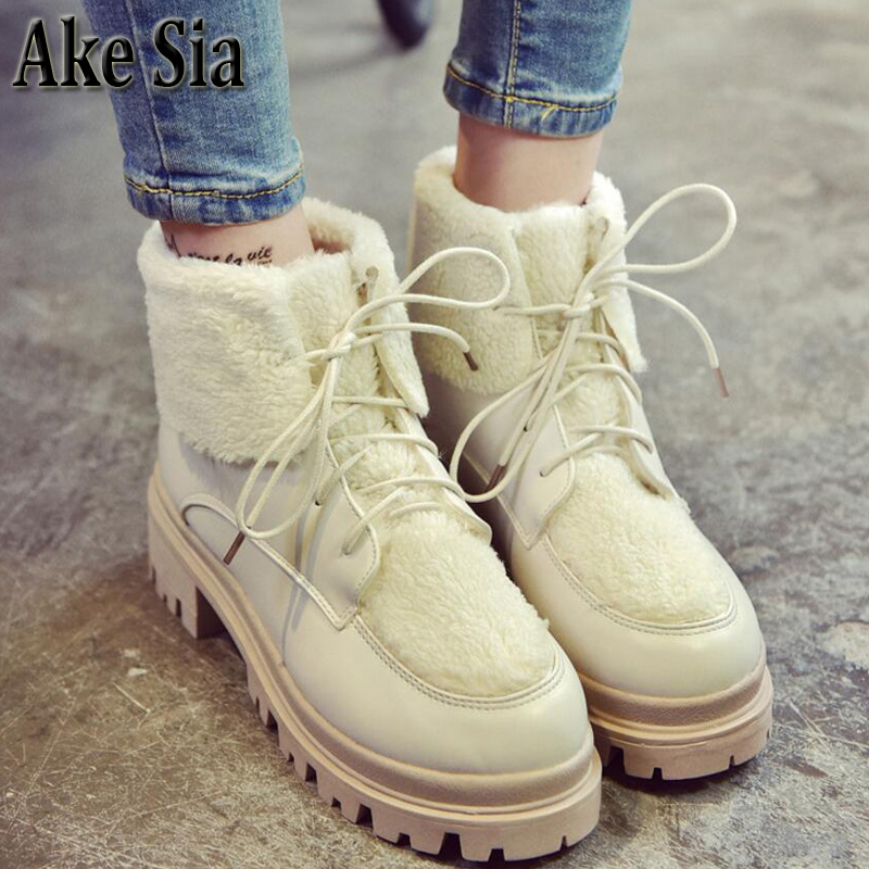 Ake Sia British Winter Fashion Women Warm Lambswool Purfle Hairy Fluff Snow Bottine Martin Boots Shoes Ankle Cotton Booties F304 ake sia british winter fashion women warm hairy fluff slip on snow bottine martin boots increased with shoes ankle booties f275
