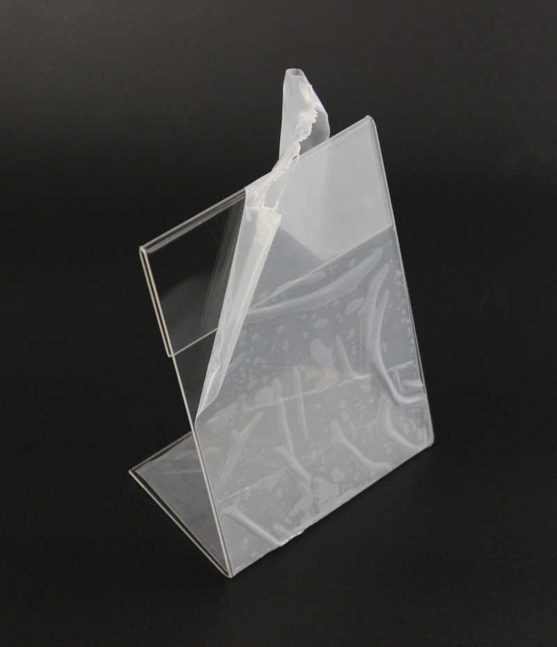 Image 4 - New 10pcs/lot High Quality Clear 6x9cm L Shape Acrylic Table Sign Price Tag Label Display Paper Promotion Card Holder StandCard Holder & Note Holder   -