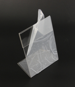 Image 4 - New 10pcs/lot High Quality Clear 6x9cm L Shape Acrylic Table Sign Price Tag Label Display Paper Promotion Card Holder Stand