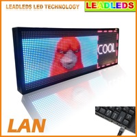 30 X 11inches Full Color Indoor LED Video Display Sign Screen Billboard Fast Program By Ethernet Cable