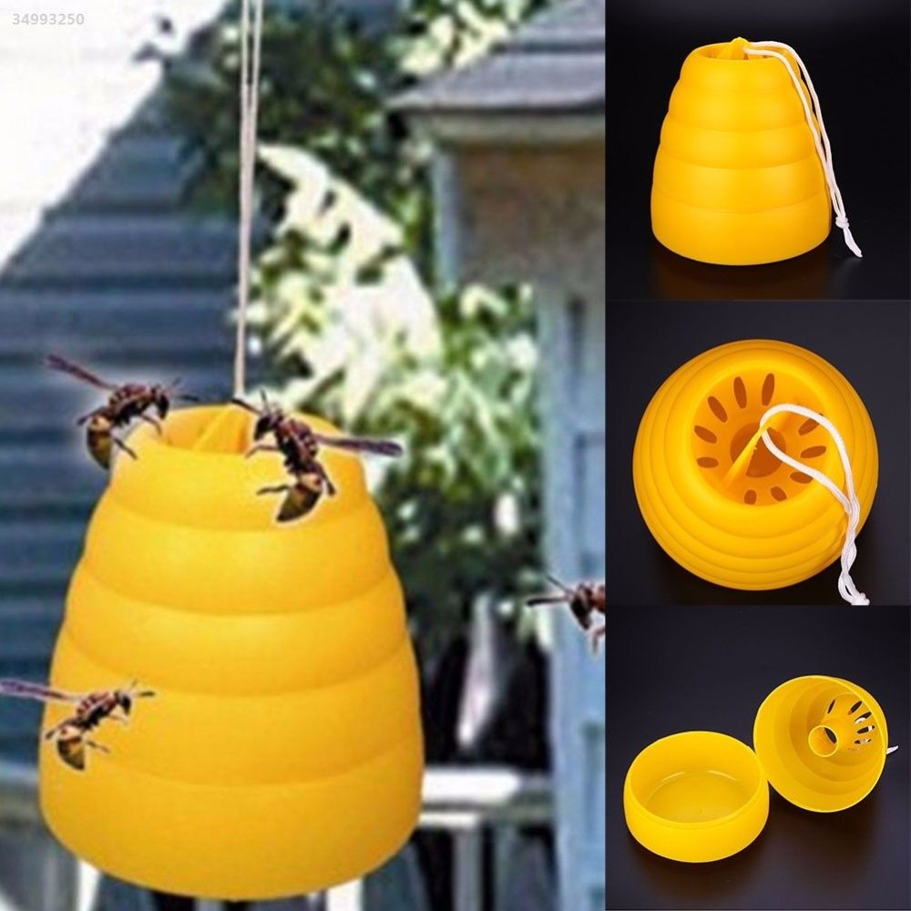 Flying Hanging Wasp Trap Fly Flies Insect Honey Pot Catcher Poison Free Fly Trap Home Jardin Garden Supplies Drop Shipping