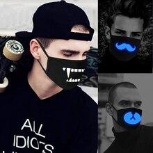 Женщины мужчины светятся в темноте Череп рот маски черная маска рот Половина лица Маскарадная маска для косплея светящийся в темноте маска с зубами