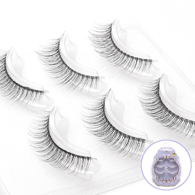 ICYCHEER 3 Pairs New Fashion Women Soft Natural Long Cross Fake Eye Lashes Handmade Thick 3D False Eyelashes Beauty Makeup Tools