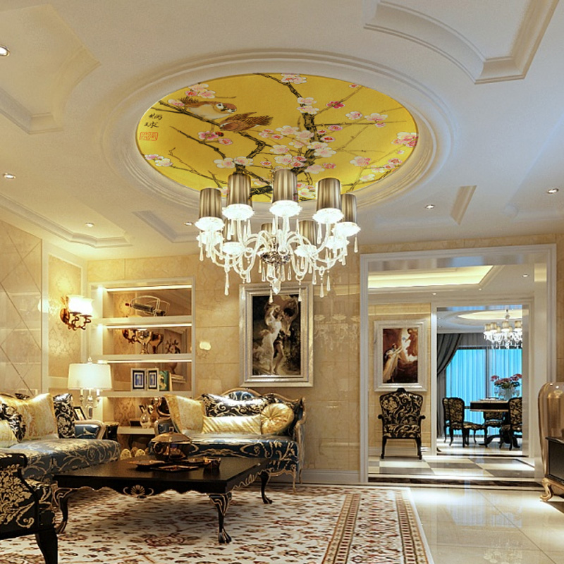 Wallpaper Decoration For Living Room Interior Design Of Small In India Online Buy Wholesale Ceiling Murals From China ...