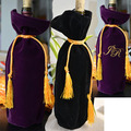 "Wine Bottle Bag Christmas Velvet Gift Pouches with gold String 15cmx31cm (6""x12"") Good Quality wine Bottle Covers"