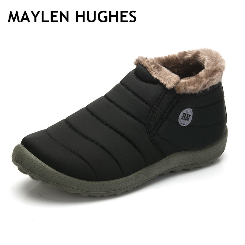 Shoes New Fashion Men Winter Shoes Solid Color Snow Boots Plush Father Antiskid Bottom Keep Warm Waterproof Ski Boots Size 35-48 To Have A Unique National Style