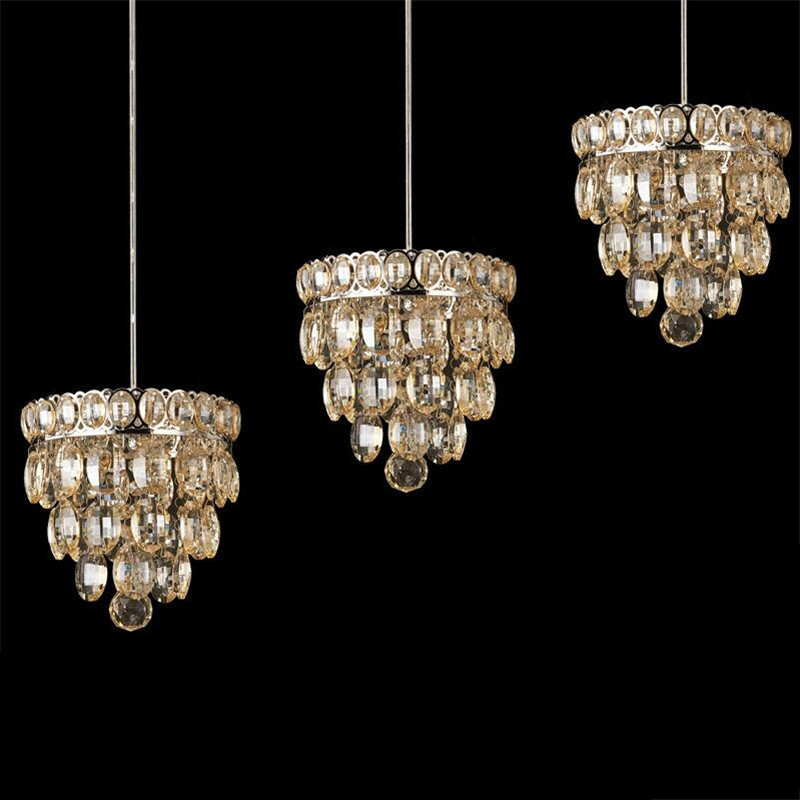 Brief Modern Luxurious 100% Quality K9 Crystal Led 7w*1/3 Heads Pendant Light for Dining Room Living Room Droplight 1368 modern fashion luxurious rectangle k9 crystal led e14 e12 6 heads pendant light for living room dining room bar deco 2239