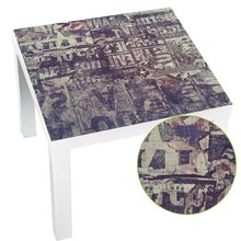 Hot Pvc Waterproof Square Table Sticker Table Cloth Desktop Protective Film Desk Decals Dark purple