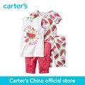 Ajuste Confortável Algodão de carter 4 pcs do bebê dos miúdos das crianças PJs 331G084/351G079, vendido por carter oficial da China loja