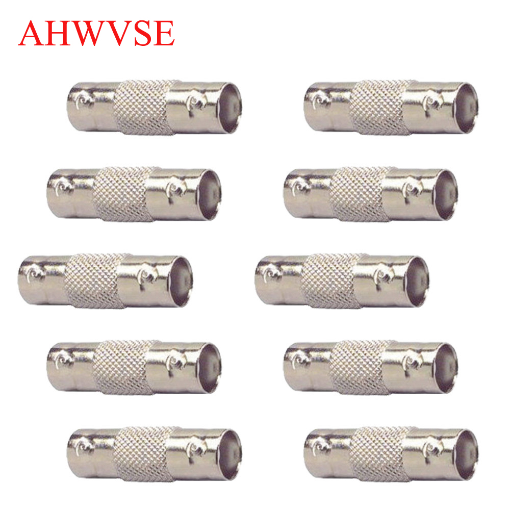 10pcs BNC Female To Female Inline Coupler Coax BNC Connector Extender For CCTV Camera Security Video Surveillance System