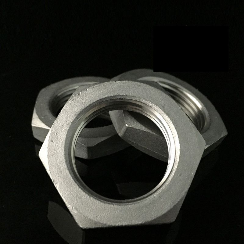 Quot bsp female thread stainless steel hex lock nuts