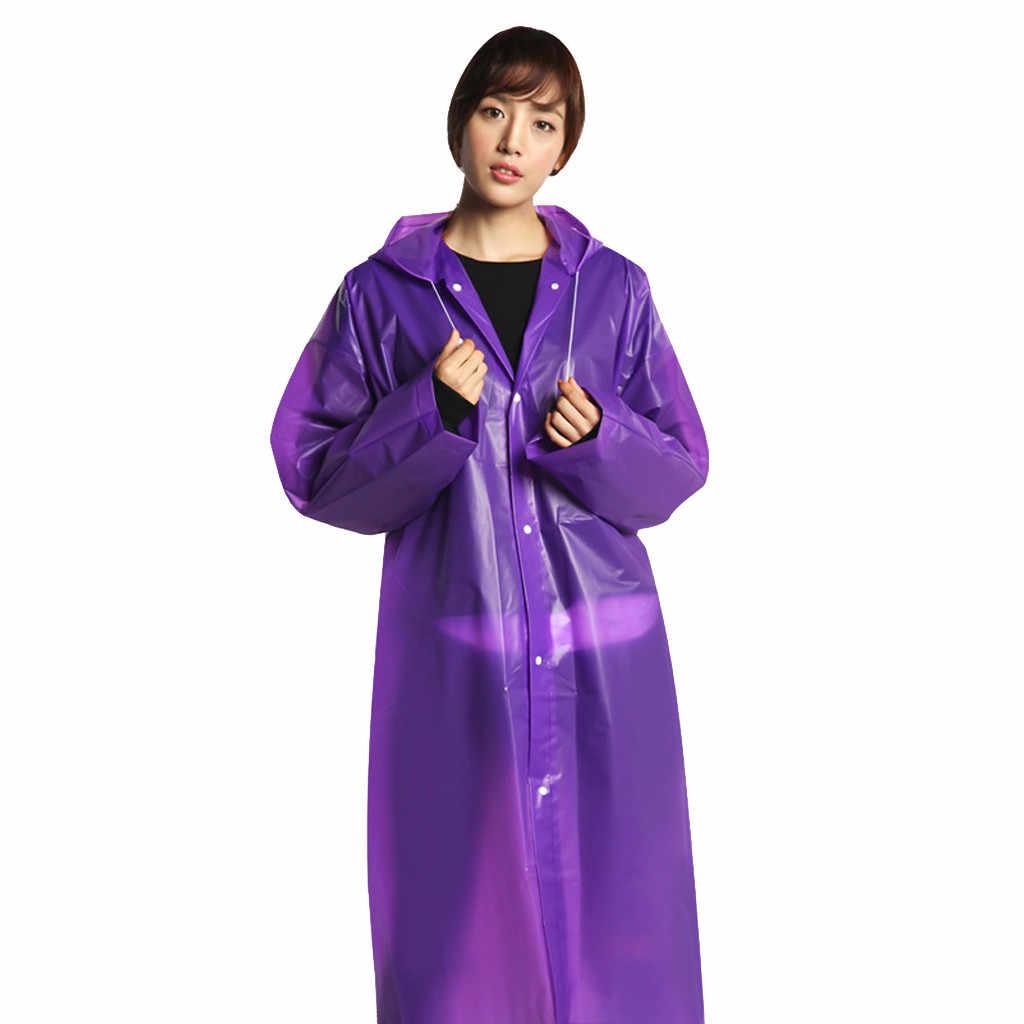 מעיל גשם גשם פונצ 'ו שקוף הסווטשרט עמיד למים נייד למבוגרים שאינו חד פעמי חיצוני גברים נשים ארוך סגנון טיולים פונצ' ו