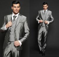 Phổ biến nhất đẹp trai groom dresses, bạc phù hợp với màu xám phù rể phù hợp với cậu bé phù hợp với (áo + quần + tie + chú rể vest)