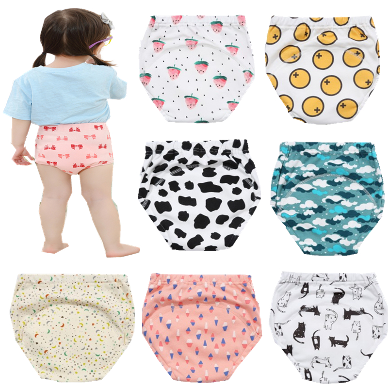 1Pcs Baby Diapers Reusable Cloth Nappies Waterproof Child Boys Girls Cotton Training Pants Washable Underwear