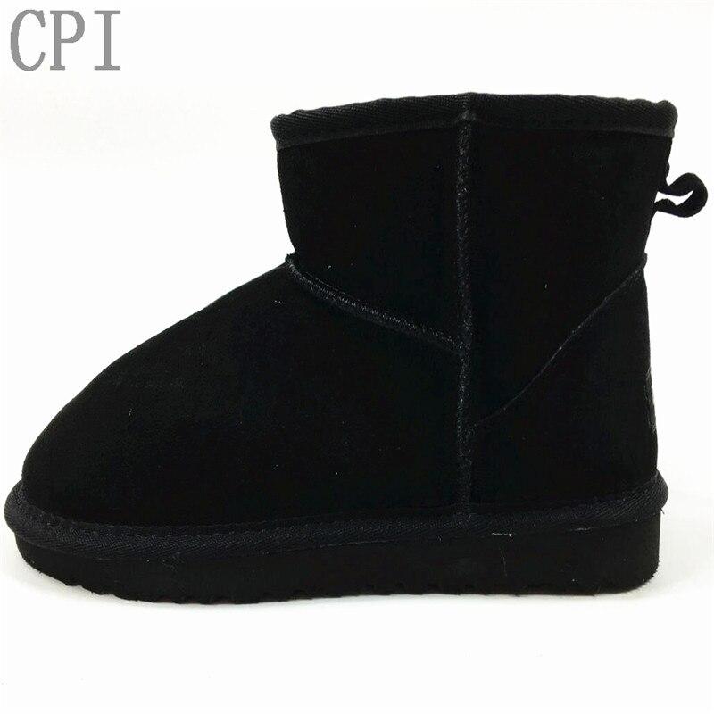 Marke Freies Verschiffen Heißer Verkauf Frauen Schnee Stiefel 100% Echtem Rindsleder Ankle Stiefel Warme Winter Stiefel Frau Schuhe 33 -44