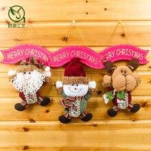 1pcs Merry Christmas Santa Claus snowman elk deer doll cloth pendant Party Decor props Door tree kid room ornaments EA