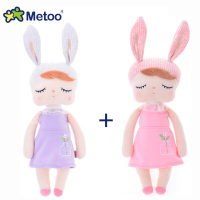 2pcs/lot Metoo Doll Stuffed Toys Plush Animals Soft Kids Baby Toys for Girls Children Boys Kawaii Cartoon Retro Angela Rabbit