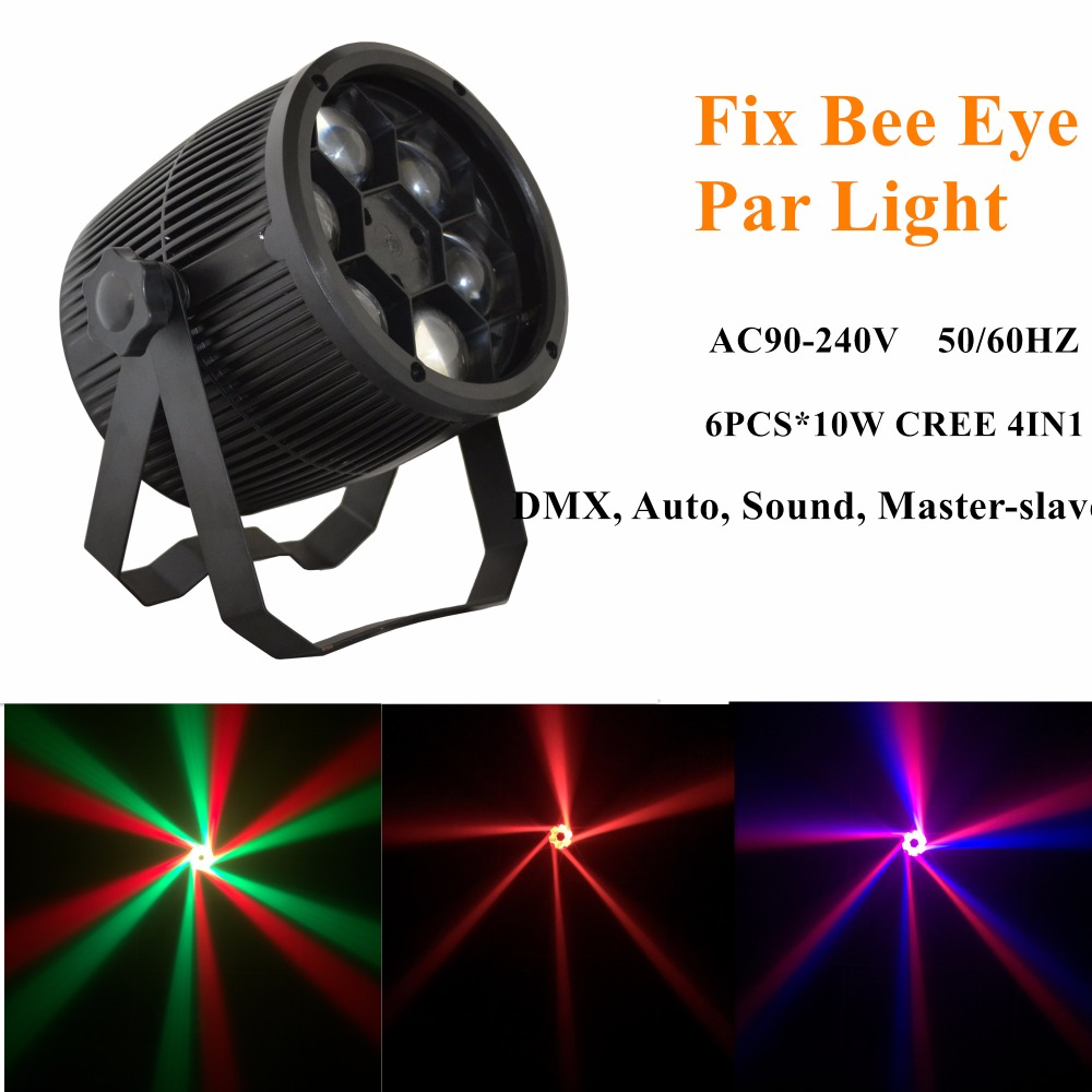F6*10W bee eyes RGBW LED Light LED Par Disco Light for stage lighting For Stage Night Club Party Lighting