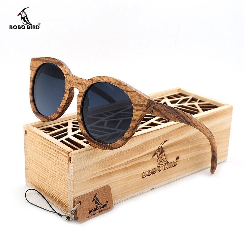 BOBO BIRD New Men's Sunglasses Wood Cat Eye Zebra Wooden Sun glasses With Box Oculos De Sol Feminino 2017