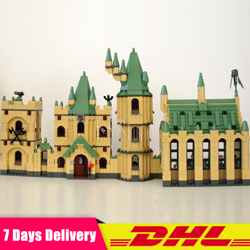 N STOCK DHL LEPIN 16030 1340Pcs Creative Movies Series The Hogwarts Castle Set Model Building Block Children Toy Gift 4842 lepin 16030 1340pcs movie series hogwarts city model building blocks bricks toys for children pirate caribbean gift